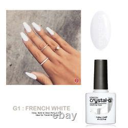 Crystal-G Classic Hybrid UV LED Soak Off Gel Nail Polish CGLG01 FRENCH WHITE