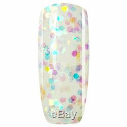 Crystal-G Confetti Glitters Range P14- Rainbow Drops UV/LED Gel Nail Polish