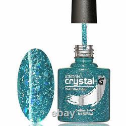 Crystal-G DIAMOND Range D04-TEAL BURST 8ml UV/LED Soak Off Gel Nail Polish