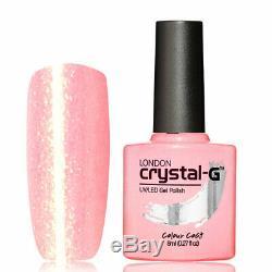 Crystal-G, Fine Glitters E- Range E-37 UV/LED Gel Nail Polish, UK Brand