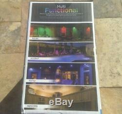 Enbrighten Landscapes Path Lights 9 Puck Lights 80 ft LED Color Changing