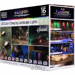 Enbrighten Seasons LED Color-Changing Landscape Lights 6 Pucks, 50ft
