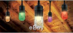 Enbrighten Seasons LED Warm Color Changing Café String Lights Indoor Outside NEW
