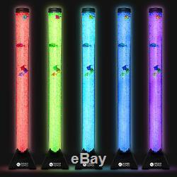 Extra Large 120cm Colour Changing LED Sensory Bubble Tube Lamp Mood Fish Water