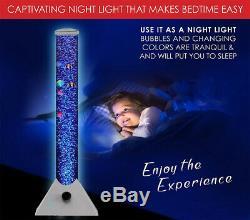 Extra Large 90cm Colour Changing LED Sensory Bubble Tube Lamp Mood Fish Water