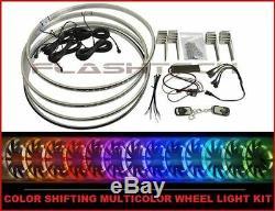 Flashtech 17 Color Change Multicolor LED Wheel Rings Rim Light Kit with Remote