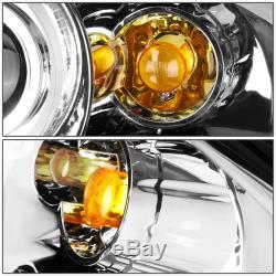 For 96-01 Audi B5 A4 Quattro Chrome Led 3d Rgb Color Change Angel Eyes Headlight