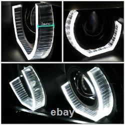 For 96-03 Bmw E39 5-series 3d Rgb Color Change Headlight Lamps+tool Set Black