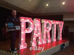 Giant LED Illuminated Letters Carnival Marquee RGB Colour Changing NEW PRICE