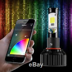 H13 2in1 LED Headlight Bulbs Color Changing Devil Eye for Projector + Reflector