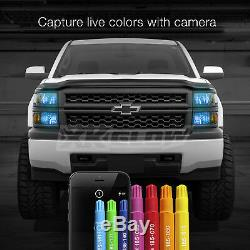 H4 2in1 LED Headlight Bulbs Color Changing Devil Eye for Projector + Reflector