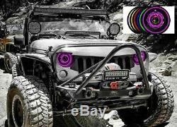 HID Color Change RGB Angel Eyes Head Lights Jeep Wrangler JK