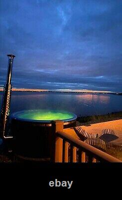 Hot tub deluxe fiberglass 316ANSI heater Jacuzz&Air bubbles systems LED's SPA