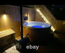 Hot tub external 316ANSI heater Jacuzzi&Air bubbles systems LED lights SPA Cover