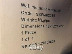 Indoor / outdoor Wall water fall feature With remote LED colour changing lights