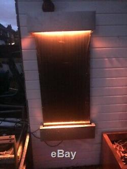 Indoor / outdoor Wall water feature LED colour change lights Fathers Day gift