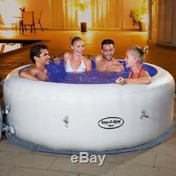 JULY DELIVERY Lay-Z-Spa Paris 4-6 person Hot Tub, LED Lights, Cover Included