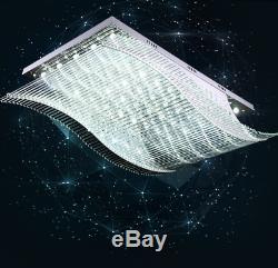 K9 Crystal Color Change LED Remote Ceiling Chandelier Lamp Lighting Fixture