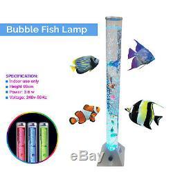 LED Bubble Lamp RGB Colour Changing Novelty Fish Light Tower Sensory Lighting