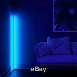 LED Corner Floor Lamp Hue RGB Colours WHITE Body Minimalist with Remote