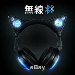LED High Function Wireless Cat Ear Headphones Color Changing AXENT WEAR New