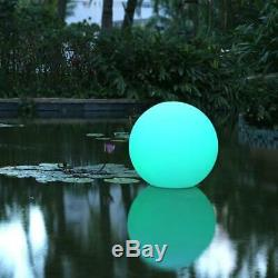 LED Rechargeable Floating Glow Ball Light Lamp 35cm Colour Changing Moon Orb