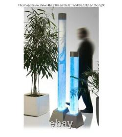Large 1.83m Bubble Tube Colour Changing Clear Column Water Feature + LED Lights