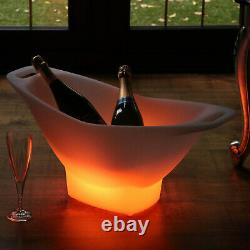 Large LED Ice Bucket, Light Up Champagne Wine Cooler Colour Changing by PK Green