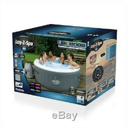 Lay-Z-Spa Bali Inflatable Hot Tub with LED Lights Lazy Spa Bestway Like Paris