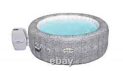 Lay-Z-Spa Honolulu AirJet Portable Spa 6 person LED Hot tub Grey