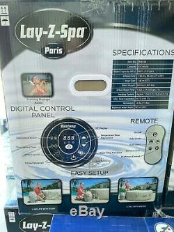 Lay Z Spa Lazy Spa Paris Airjet with LED's Brand New Hot Tub FREE DELIVERY