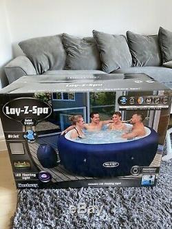 Lay Z Spa Lazy St Tropez Airjet Hot Tub LED 4-6 Person New (Moritz, Milan, Paris)