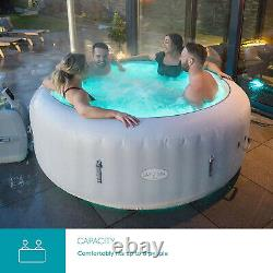 Lay-Z-Spa Paris 140 Massaging Air Jets 4-6 Person LED Lights Hot Tub Jacuzzi Spa