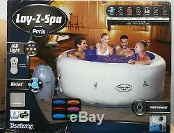 Lay-Z-Spa Paris Hot Tub With LED System 4-6 PERSON