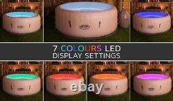Lay-Z-Spa Paris Hot Tub with LED Lights, Airjet Inflatable, 4-6 person