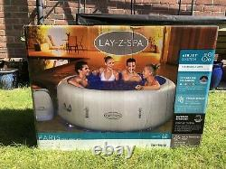 Lay Z Spa Paris Inflatable Hot Tub 4-6 People Built In LEDs