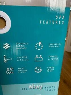 Lay Z Spa Paris Luxury Inflatable Hot Tub (4-6 people) with LED lights FREE P&P