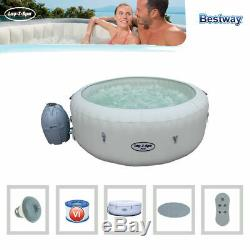 Lay-Z-Spa Paris (Model 54148) 4-6 Adult AirJet Inflatable Spa with LED Lighting