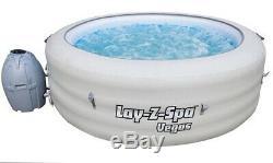 Lay Z Spa VEGAS Hot Tub Jacuzi 6, Person Like Miami Paris Cancun LED Lights Lazy