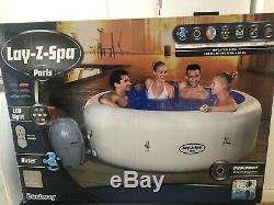 Lazy-Z-Spa Paris Hot Tube White (led) Brand New. Ready To Ship