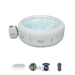 Luxury LED Lights Lay -Z-Spa Paris 4-6 Person Inflatable Airjets Hot Tub