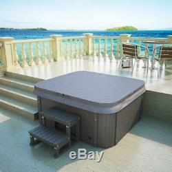 Luxury Outdoor Whirlpool Hot Tub with Heater Ozone LED for 4 Persons Spa Pool