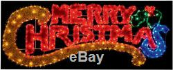MERRY CHRISTMAS Multi Colour Light Outdoor Garden Window Lights Xmas LED Rope