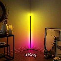 Minimalist LED Corner Floor Pole Lamp Colour shifting License 33-Smd 42mm Black
