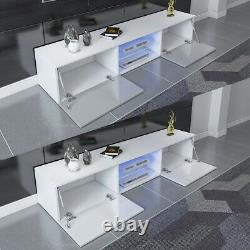 Modern 160cm TV Unit Cabinet Stand High Gloss Doors with RGB LED Lights Drawers