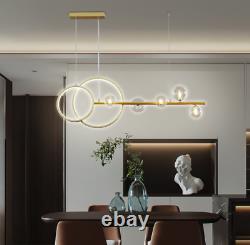 Modern Black/Gold Glass Branch Chandelier Dining Room Light Lamp 3 Colors Change