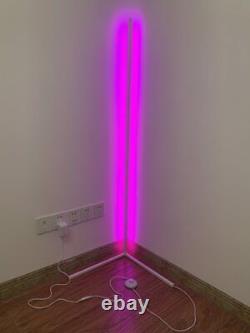 Modern Colour RGB Minimalist LED Corner Floor Lamp White Mood Lighting Lamps