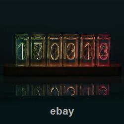 Modern Digital RGB LED Clock Colorful Home Décor Alarm Clock Ref Nixie Tube Era