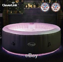 Monte Carlo 6 Person Hot Tub with CleverLink App & LED Lights-End June Del