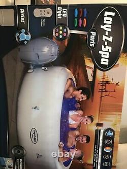 NEW LAZY SPA PARIS 4-6 PEOPLE WITH 7 COLOUR LED LIGHTS (box Still Sealed)